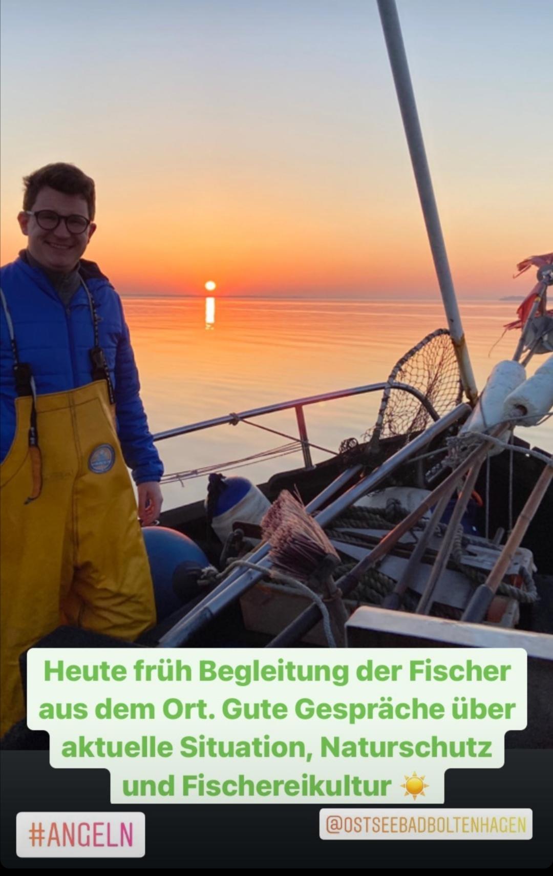 Gute Gespräche mit unseren Fischern