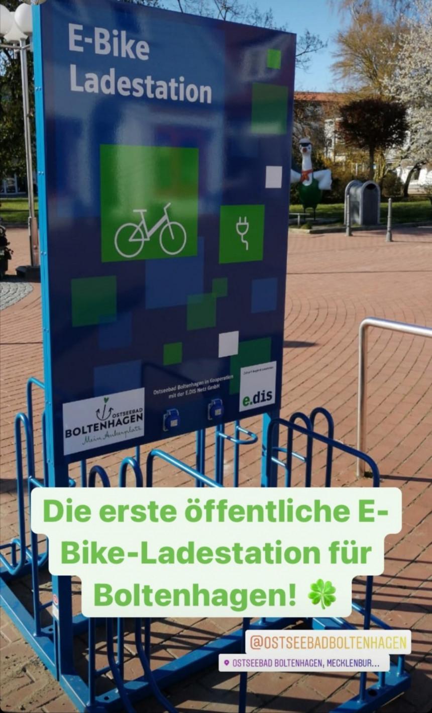 Erste öffentliche E-Bike-Ladestation im Ostseebad Boltenhagen