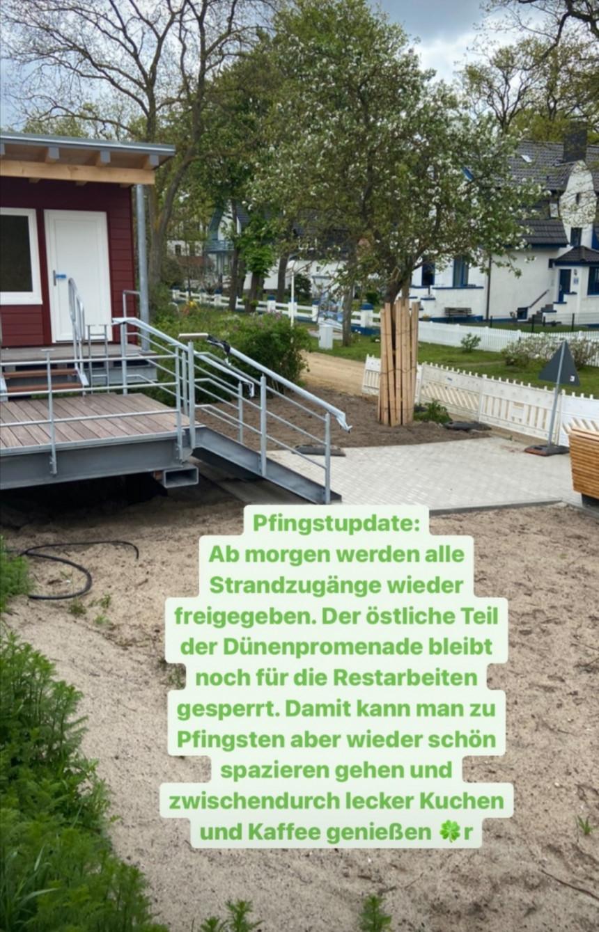 Ab dem 21.Mai 2021 werden alle Strandzugänge wieder freigegeben.
