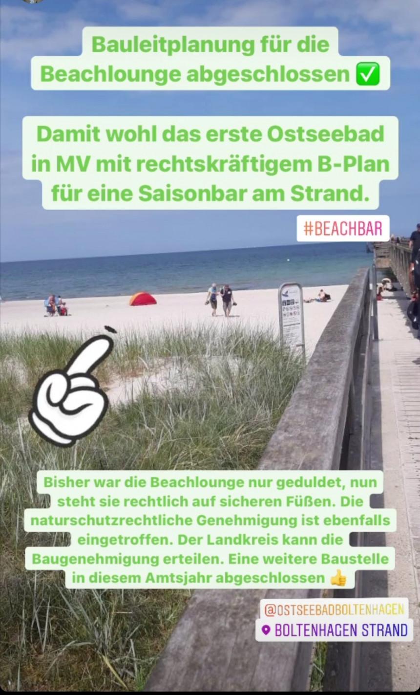 Beach Lounge – Bauleitplan ist abgeschlossen