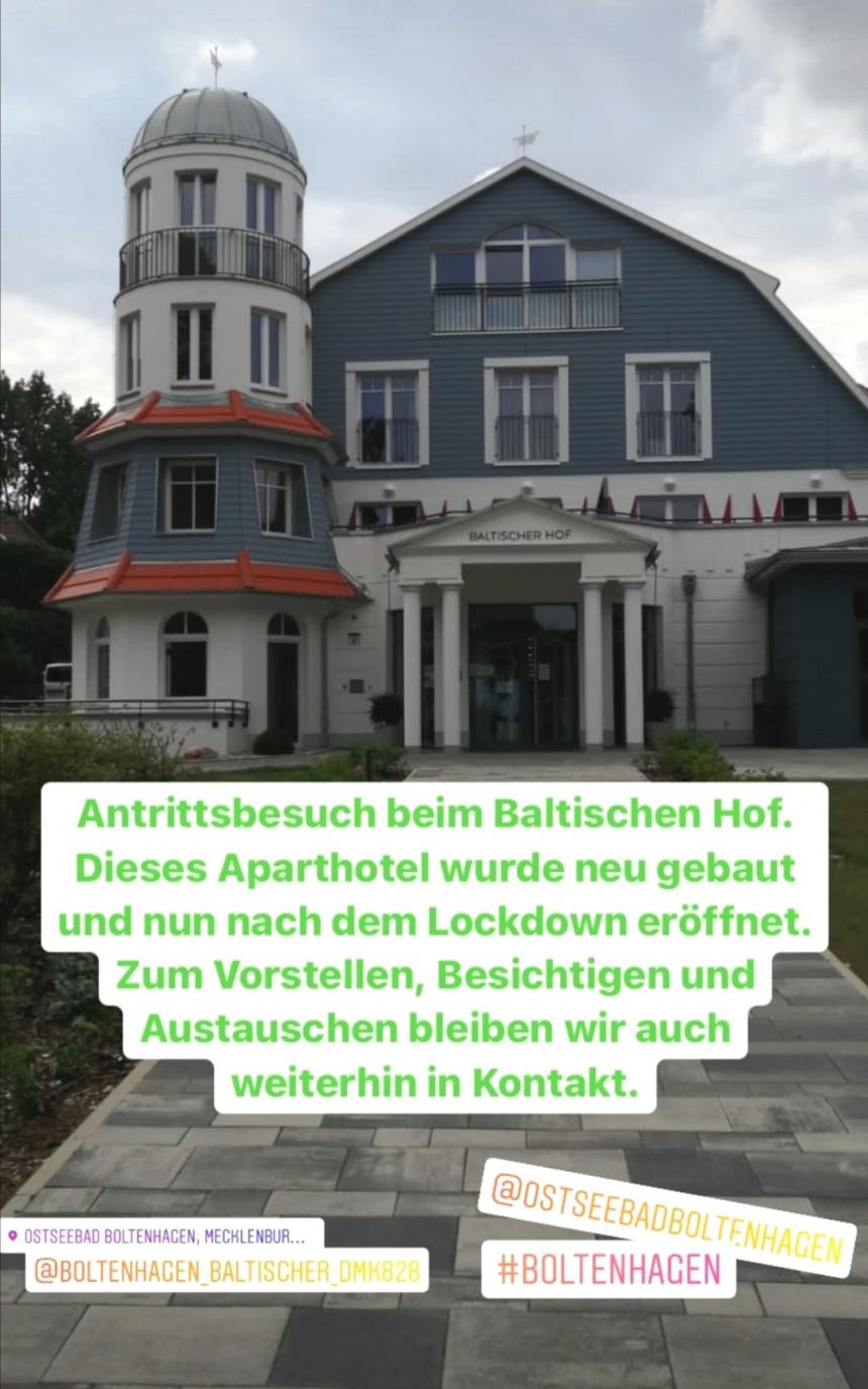 """Antrittsbesuch beim neu erbauten Aparthotel """"Baltischer Hof"""""""