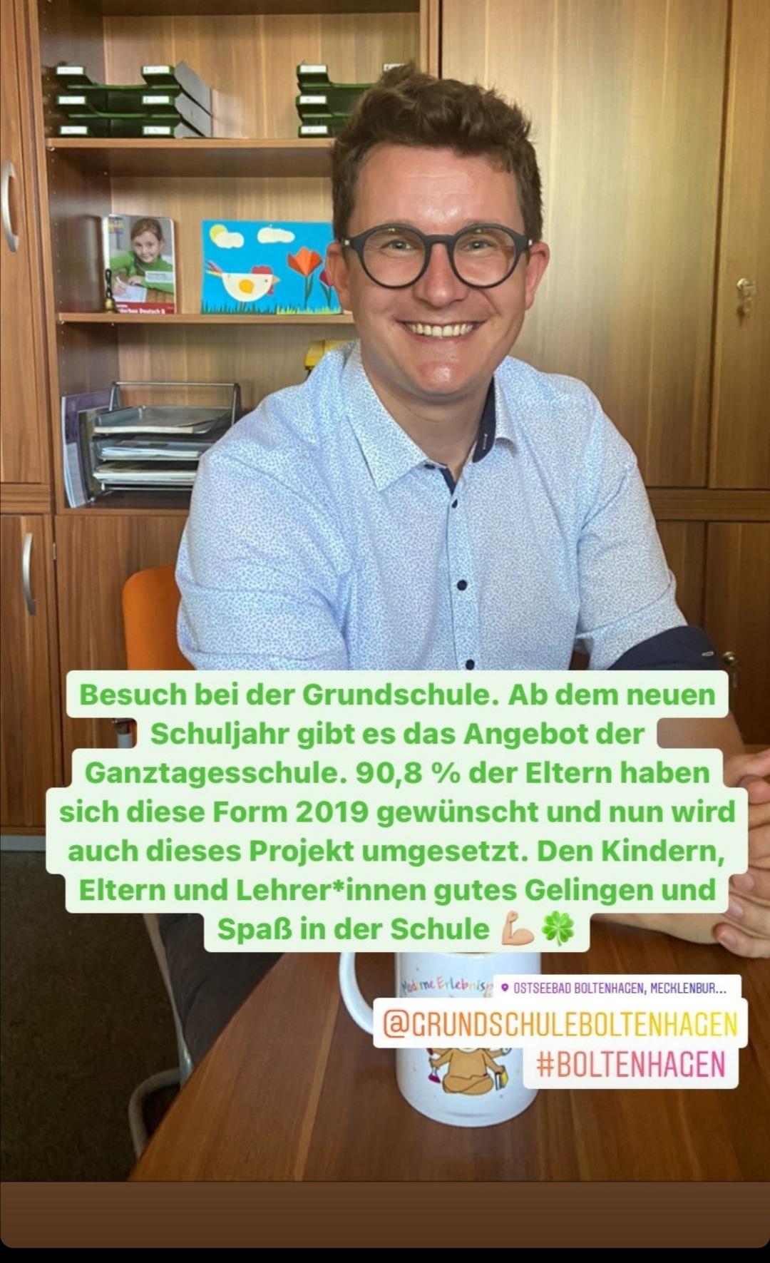 Ab dem neuen Schuljahr gibt es das Angebot der Ganztagesschule in Boltenhagen.