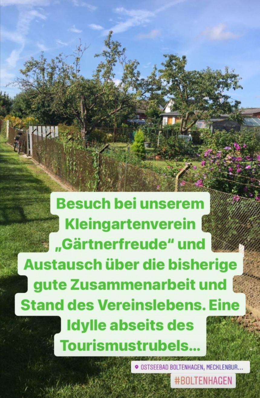 """Gerne war ich zu Besuch bei unserem Kleingartenverein """"Gärtnerfreude"""""""