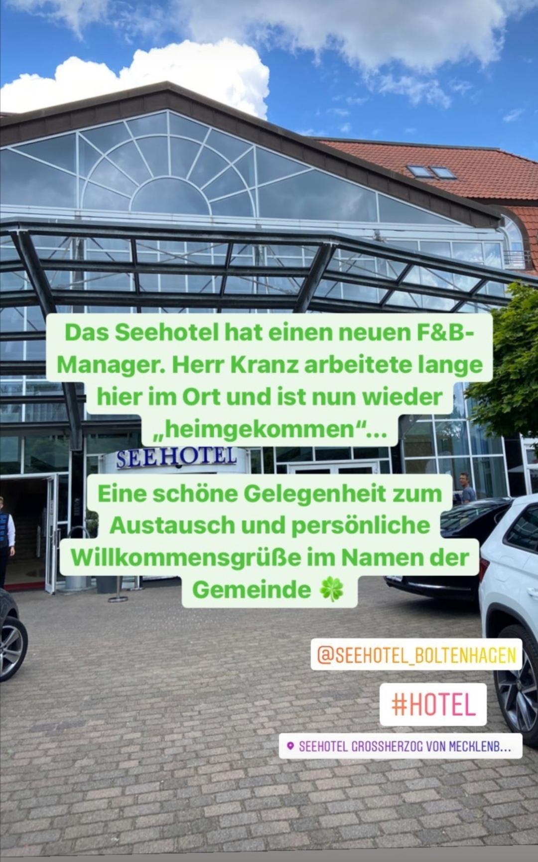 """Neuer F&B Manager des Seehotel ist """"heimgekommen"""""""