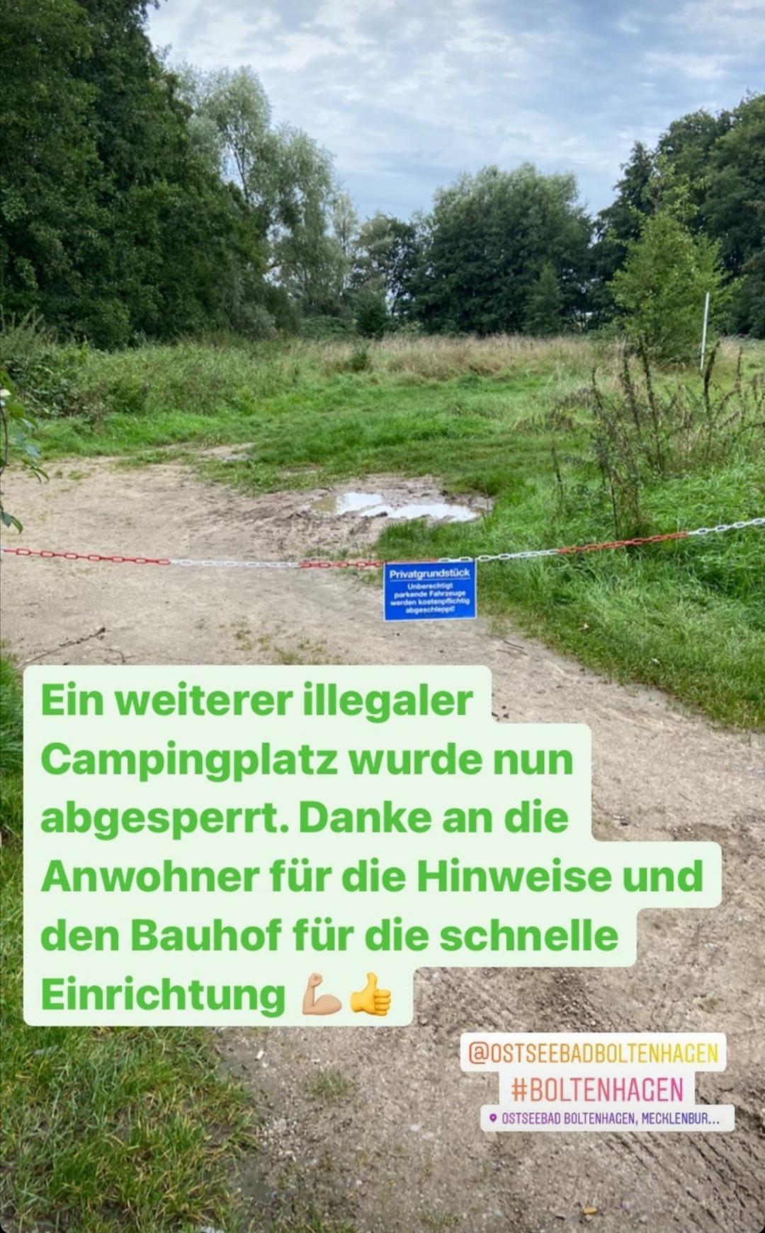 Ein weiterer illegaler Campingplatz wurde abgesperrt.