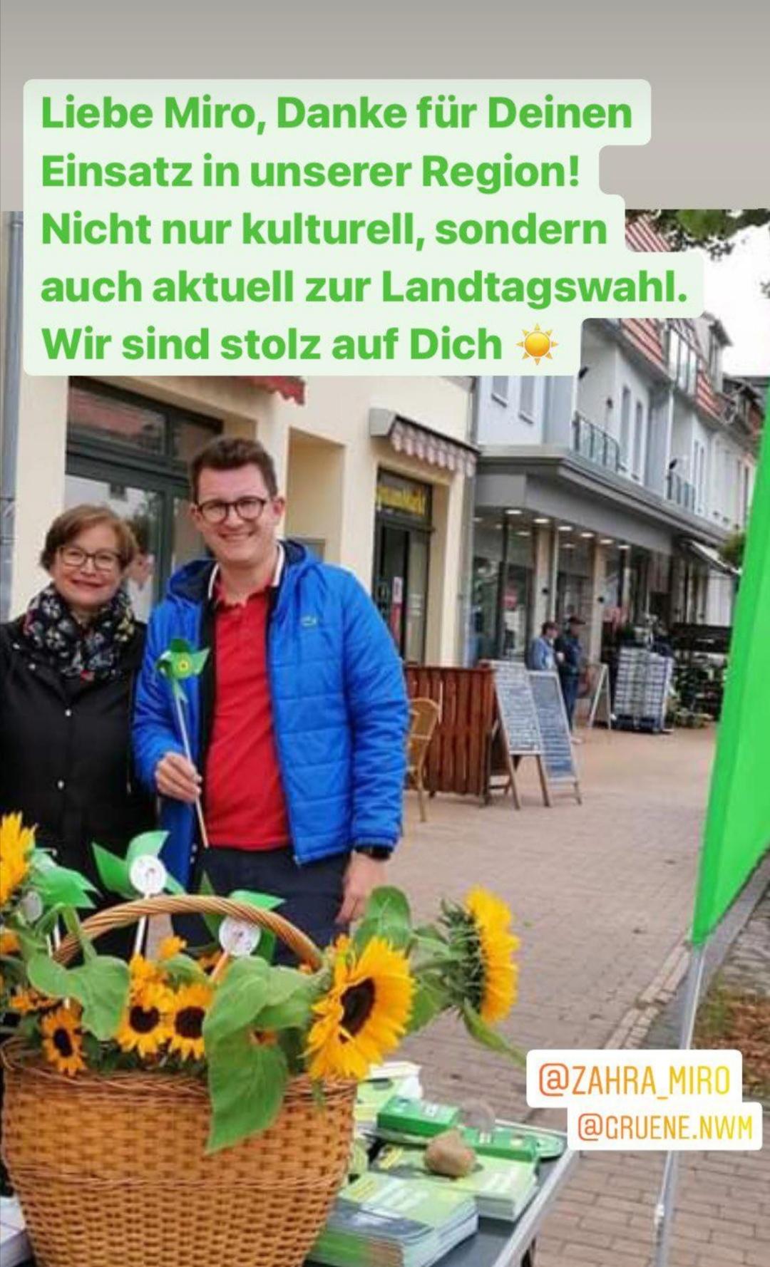 Liebe Miro Zahra, wir sind stolz auf Dich und zudem sehr gespannt auf das heutige Wahlergebnis. Der Landtag braucht uns Grüne!