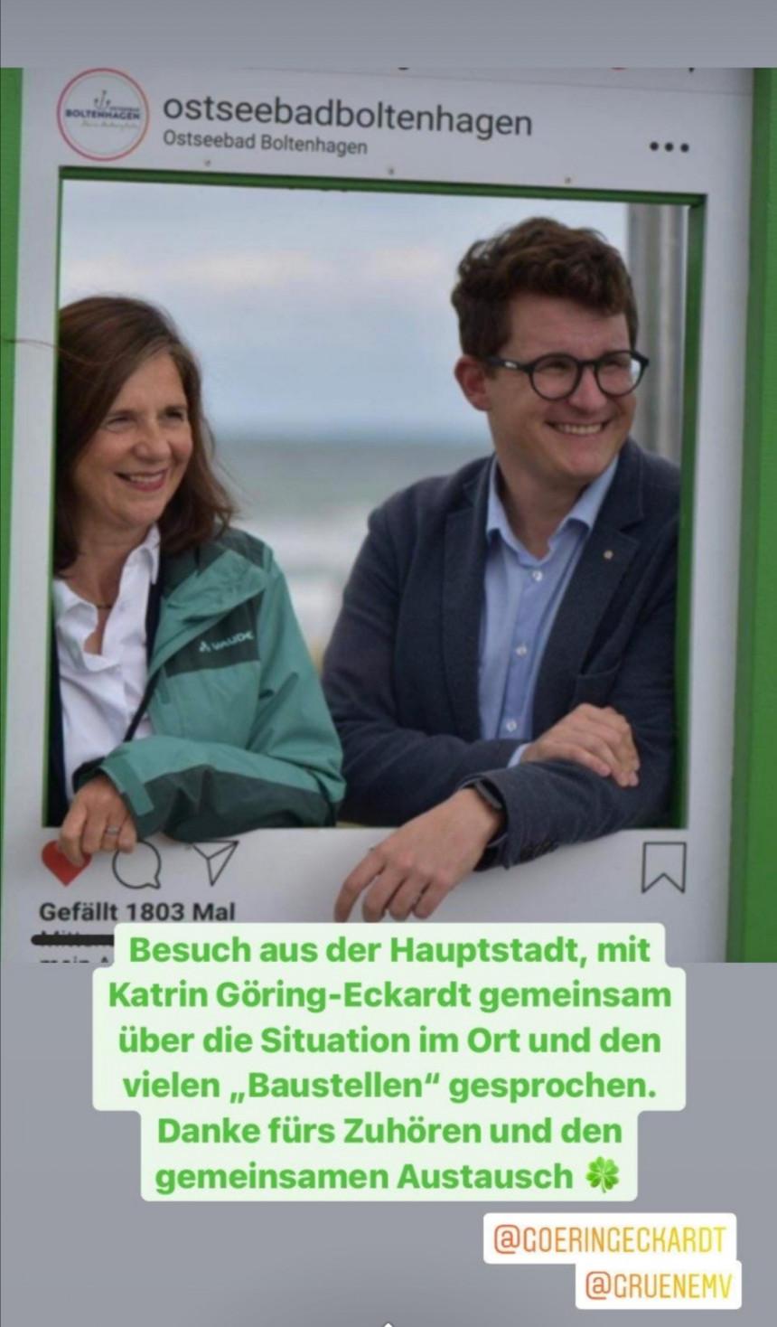 Katrin Göring-Eckardt besuchte vor einigen Tagen unser schönes Ostseebad.